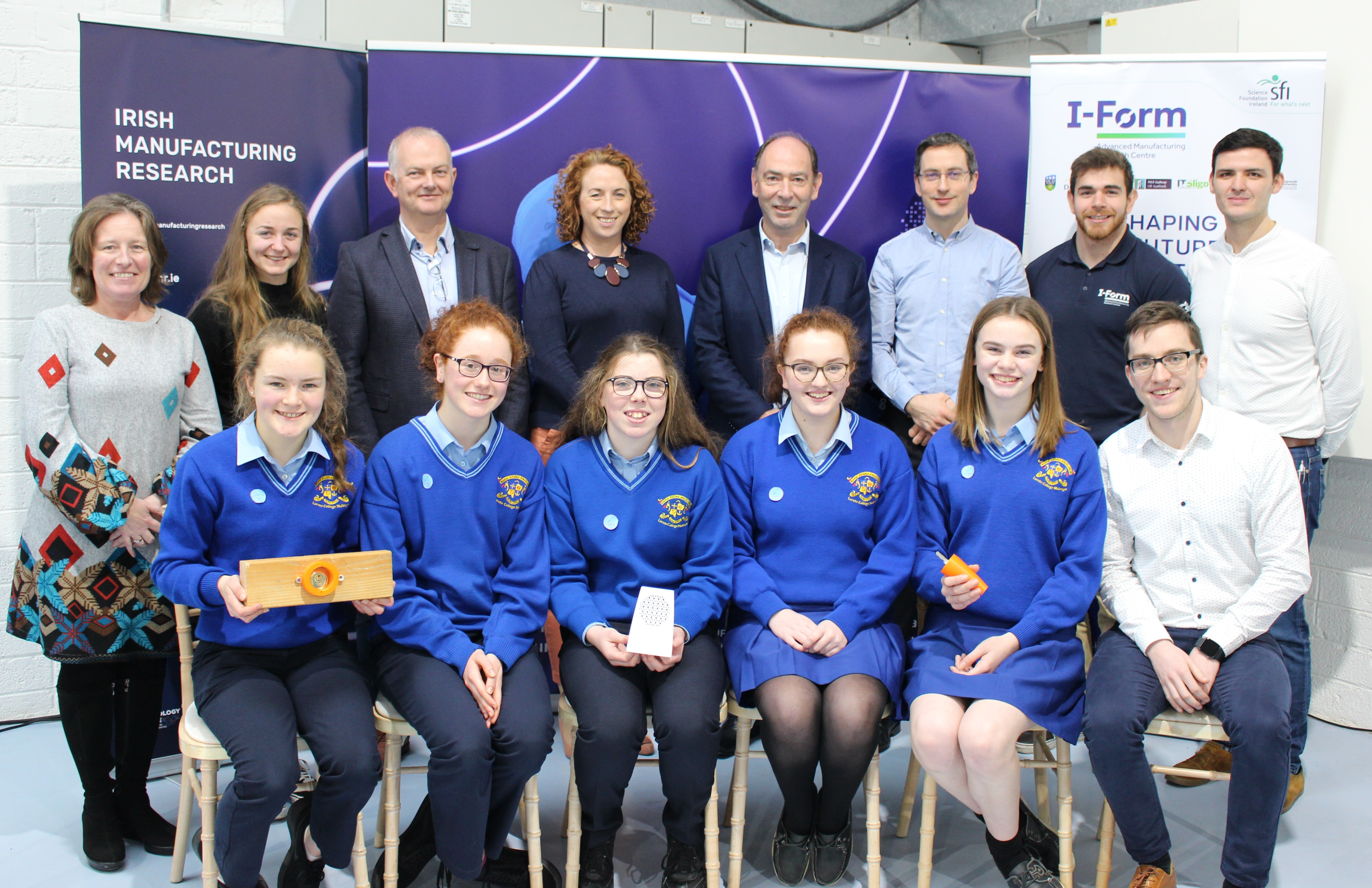 Mullingar students celebrate victory at the 'Shaping Your Future' final